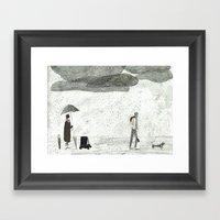 Umbrella Seller Framed Art Print