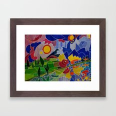 I Monti Sibillini (The Sibillini Hills) Framed Art Print