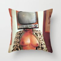 SEX ON TV - WOODY by ZZGLAM Throw Pillow