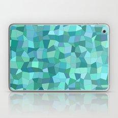 Teal rectangle mosaic Laptop & iPad Skin