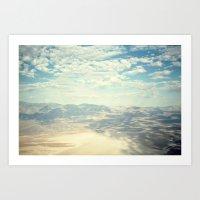 Death Valley Cloud Shado… Art Print