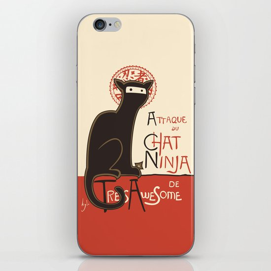 A French Ninja Cat (Le Chat Ninja) iPhone & iPod Skin