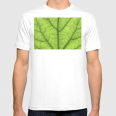 green leaf texture White Mens Fitted Tee SMALL