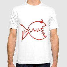 red fish Mens Fitted Tee SMALL White