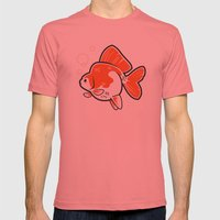 Ryukin Goldfish Mens Fitted Tee Pomegranate SMALL