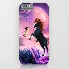 Horse with cute fairy  iPhone 6 Slim Case
