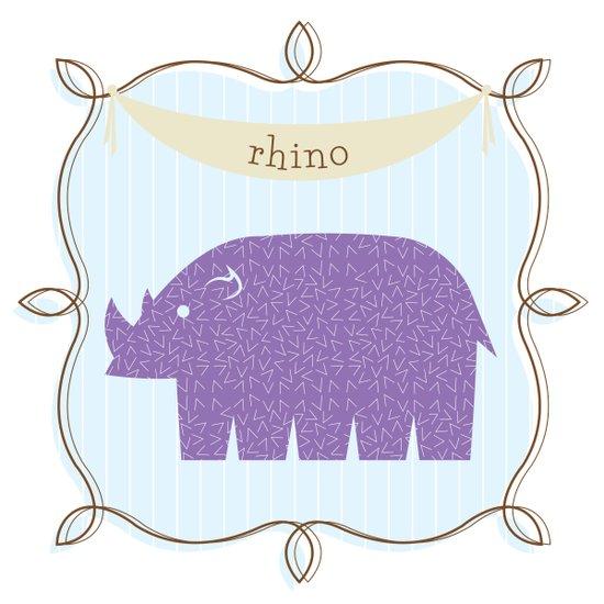 Fun at the Zoo: Rhino Art Print