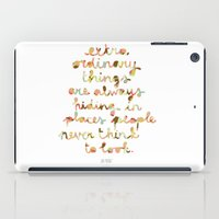 Extraordinary Things iPad Case