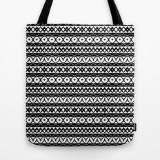Fair Isle Black & White Tote Bag