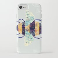 bee iPhone & iPod Cases featuring bee by Yellow Button Studio