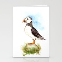 Puffin on a Rock Stationery Cards