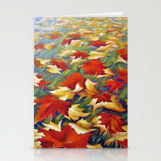 Luxury of Fall Stationery Card