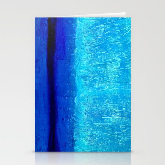 Blue Serenity Stationery Card