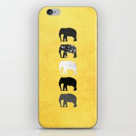 Five Elephants / Gold iPhone & iPod Skin