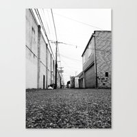 Canvas Print featuring Gritty City alley by Vorona Photography