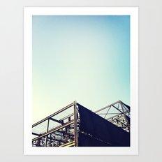 Industrial Pyramids Art Print