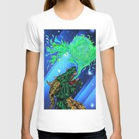 green dragon fire artist Womens Fitted Tee White SMALL