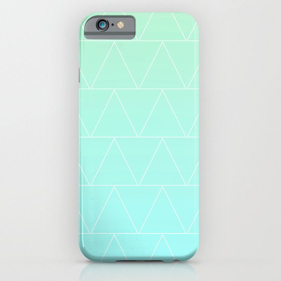 Mint Heaven Triangles iPhone & iPod Case