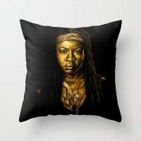 Michonne Golden Throw Pillow