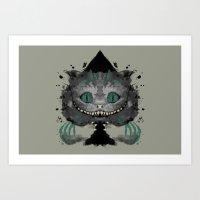 Cat of Spades Art Print