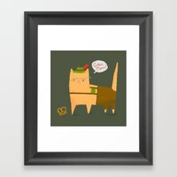 Oktoberfest Kitty Framed Art Print