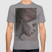 Flower Face  Mens Fitted Tee Athletic Grey SMALL