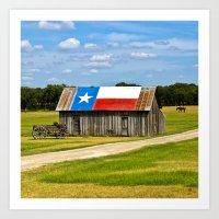 Texas Barn Art Print