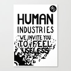 WHITEOUT: Human Industries ( HUM- 019) Canvas Print