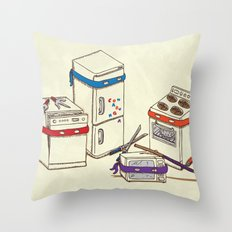 Teenage Mutant Ninja Kitchen Appliances Throw Pillow