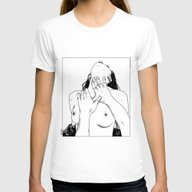 Apollonia Saintclair 413… Womens Fitted Tee White SMALL