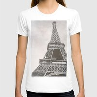 Untitled (Eiffel Tower) Womens Fitted Tee White SMALL