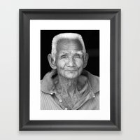 My face tells 1000 stories. Framed Art Print