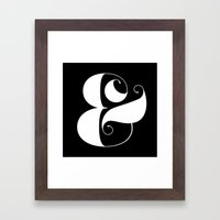 Inverse Ampersand Framed Art Print