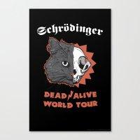 Schrödinger - DEAD/ALIVE World Tour Canvas Print