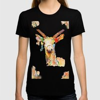 Deer (H)art Womens Fitted Tee Black SMALL