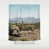 Nevada Desert Scene Shower Curtain
