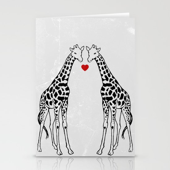 Giraffe Love Stationery Card