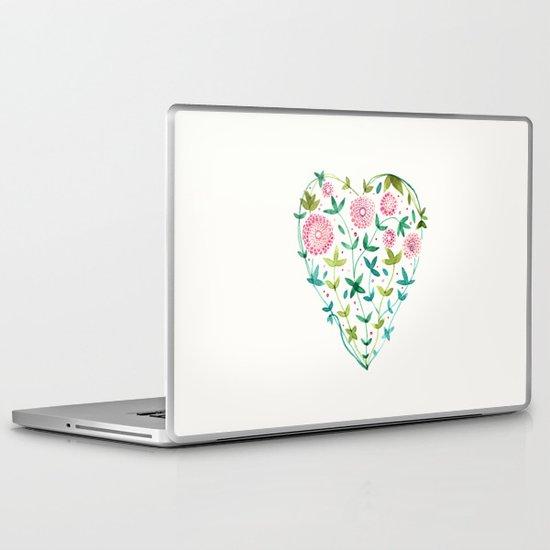 garden heart Laptop & iPad Skin