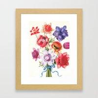 XI. Vintage Flowers Botanical Print by Pierre-Joseph Redouté - Anemones Framed Art Print