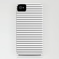 iPhone 4s & iPhone 4 Cases featuring Minimal Stripes by Allyson Johnson