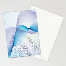 Light Blue Digital Abstract Stationery Cards