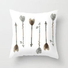 Watercolor Fall Arrows  Throw Pillow