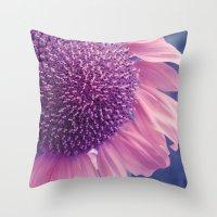 pastel sunflower Throw Pillow
