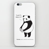 Pandas Not Guns iPhone & iPod Skin