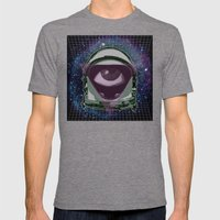 Space Eye Mens Fitted Tee Tri-Grey SMALL