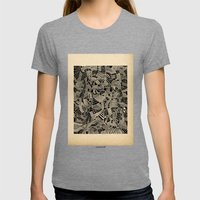 - Flore - Womens Fitted Tee Tri-Grey SMALL
