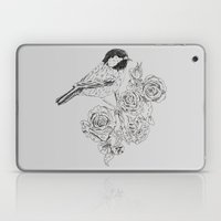 Cole Tit & Roses // Hand Drawn Print Laptop & iPad Skin