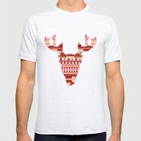 Christmas Reindeer. Mens Fitted Tee Ash Grey SMALL