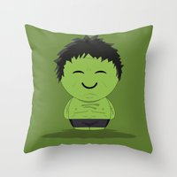 ChibizPop: It ain't easy being green! Throw Pillow