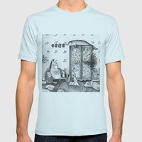 Unicorn house Mens Fitted Tee Light Blue SMALL